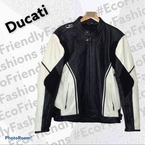 Dainese Ducati Leather Jacket, Black & White